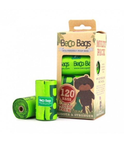 Beco 120-Count Eco-Friendly Poop Bags, 8 Refill Rolls