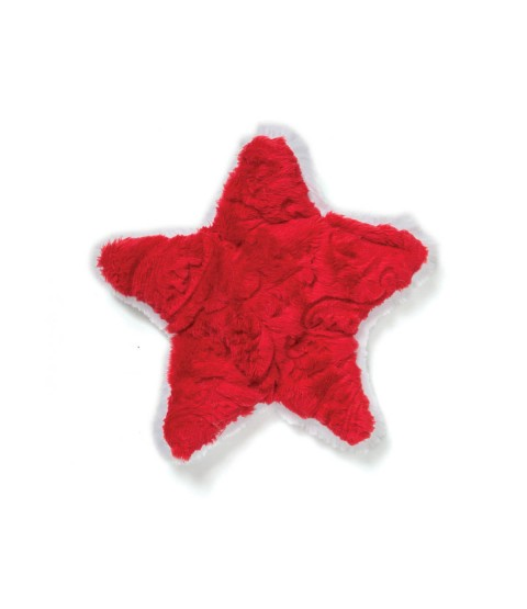 Red Paisley Holiday Star Plush Tpy