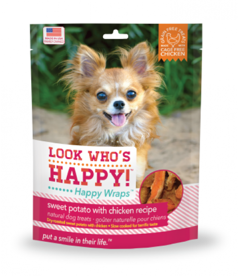 Chicken and Sweet Potato Happy Wrap Dog Chews - Look Who's Happy