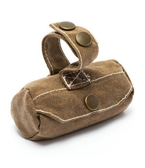 Waxed Canvas Poop Bag Holder - Billy Wolf/Rufus