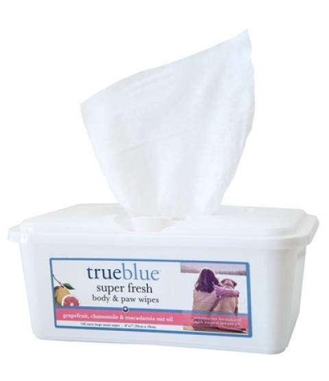 True Blue Super Fresh Body & Paw Wipes