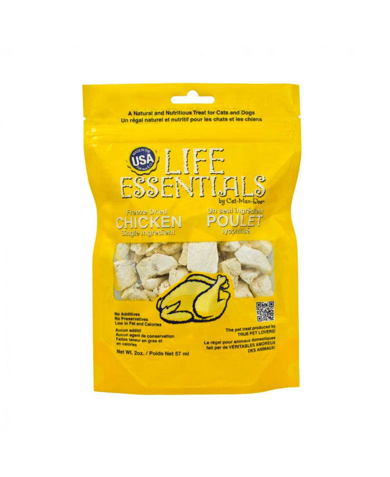 Cat-Man-Doo Life Essentials Freeze Dried Chicken - Olive