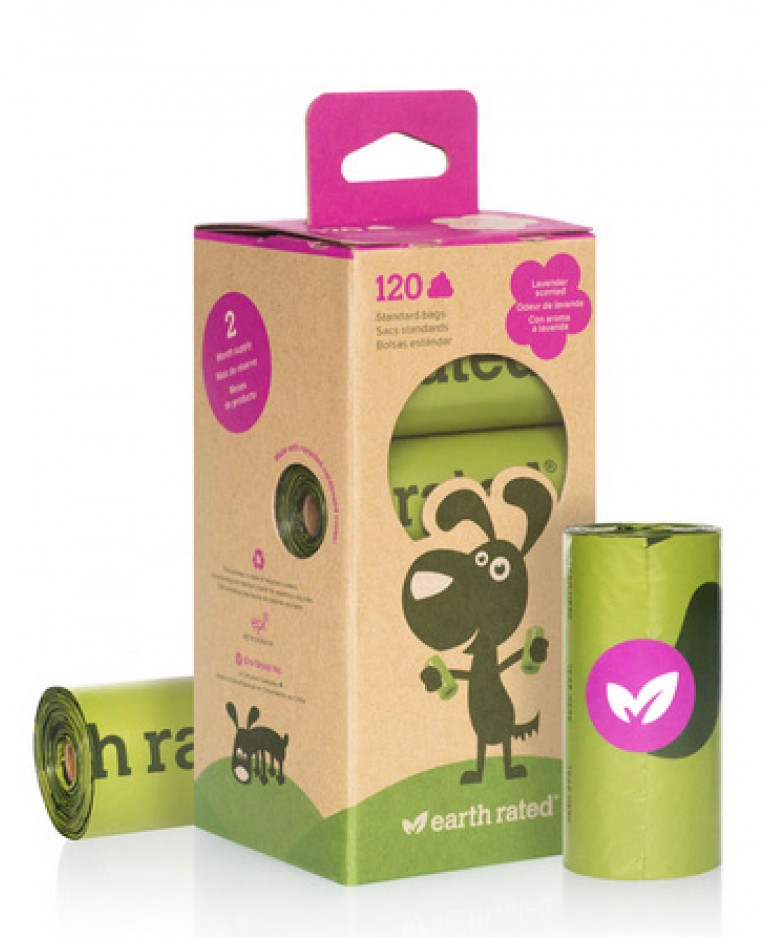 Biodegradable Dog Waste Bags On A Roll L Earth Rated Olive