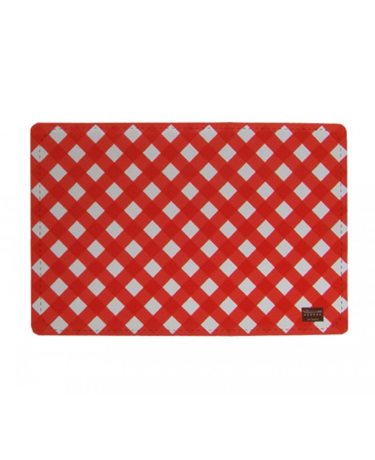 Red And White Gingham Pet Food Mat L George SF