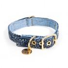 Found Vintage Batik Denim Dog Collar