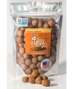 4Legz Organic Pumpkin Dog Treats Non GMO Verified
