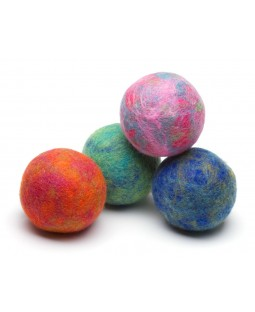 Marbled Boiled Wool Balls