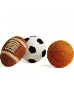 Wooly Fun Sport Ball Dog Toys