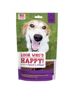 Fetch' n Fillets Bison Jerky Dog Treats - Look Who's Happy