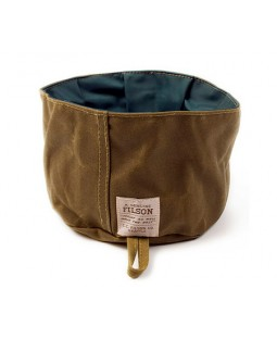 Filson Oil Finish Tin Cloth Dog Bowl