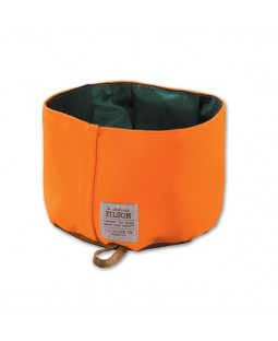 Oil Finish Tin Cloth Dog Bowl - Filson/Orange