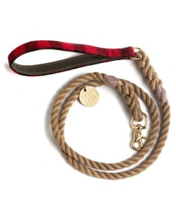 Found Red Buffalo Plaid Leash