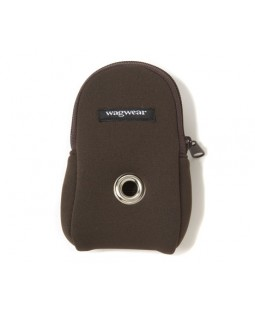 Neoprene Leash Pouch - Brown