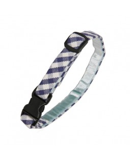 Blue Gingham Cat Collar - Creature Clothes