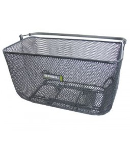 Basil Catu Bicycle Basket - Titanium