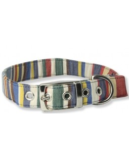 Creature Clothes Deck Chair Striped Dog Collar