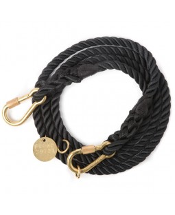 FOUND Adjustable Black & Brass Dog Leash