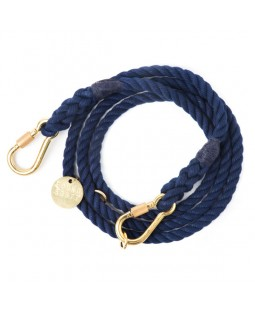 Navy Adjustable Dog Leash