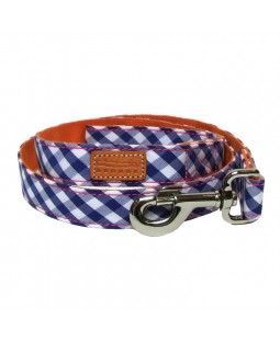 George Blue Gingham Leash