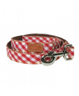 George Red Gingham Leash