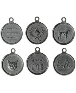 George Vintage Zinc Pet ID Tag
