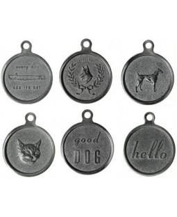 George Vintage Zinc Pet ID Tag