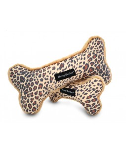 Leopard Print Canvas Dog Toy