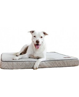 Jax & Bones Memory Foam Dog Bed - Gatsby Grey & Navy