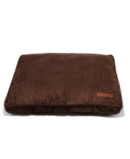 Jax & Bones Chocolate Corduroy Square Pillow Dog Bed