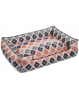 Jax & Bones Geo Cotton Blend Lounge Dog Bed