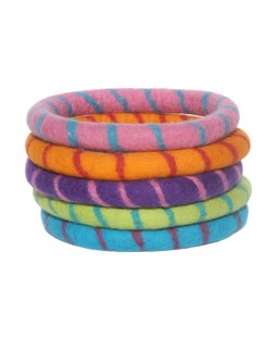 Lollycadoodle Boiled Wool Ring Dog Toy