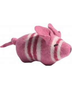 Felted Wool Pig