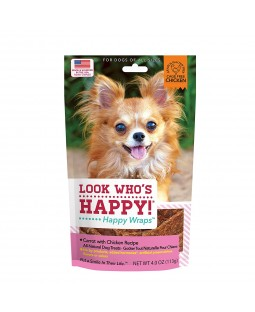 Chicken and Carrot Happy Wrap Dog Chews - Look Who's Happy