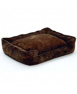 Jax & Bones Corduroy Lounge Bed - Chocolate