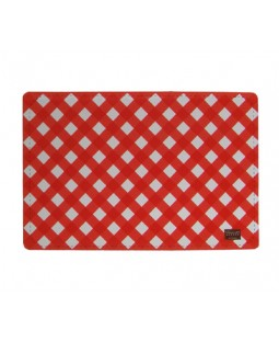 George Orange Gingham Feeding Mat