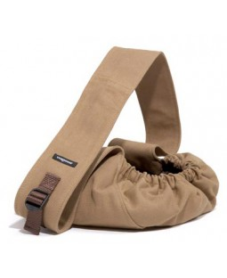 Wagwear Canvas Messenger Dog Carrier - Tobacco