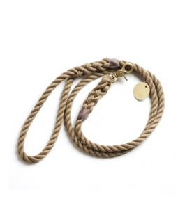 FOUND Natural Rope Leash - Standard Brass