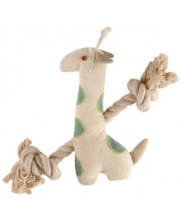Natural Canvas & Rope Giraffe