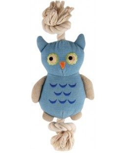 Natural Canvas & Rope Owl