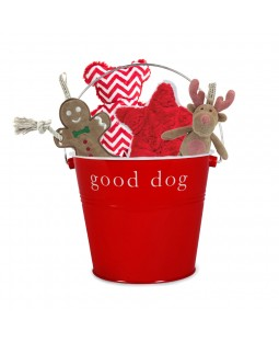 Olive Holiday Toy Gift Bucket