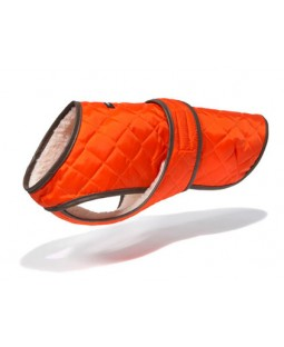 Quilted Vest with Berber Fleece - Orange / Wagwear