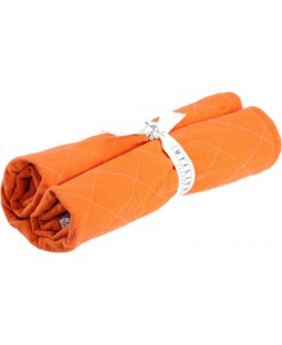 Utility Canvas Quilted Dog Crate Mat & Travel Blanket - Orange