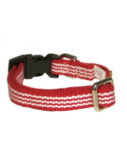 George Red Woven Stripe Cotton Collar