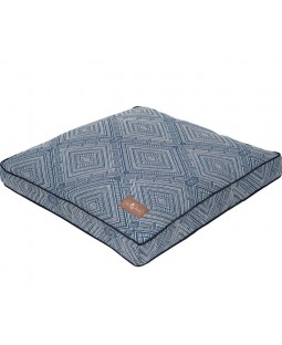 Jax & Bones Gatsby Blue Square Pillow Dog Bed
