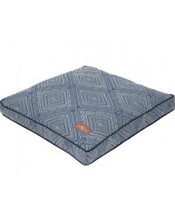 Jax & Bones Gatsby Blue Square Pillow Dog Bed