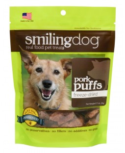 Herbsmith Freeze-Dried Smiling Dog Treats - Pork Puffs