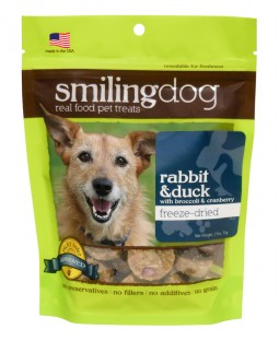 Herbsmith Freeze-Dried Smiling Dog Treats - Rabbit & Duck