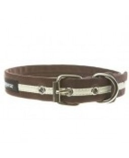Reflective Dog Collar & Leash - Wagwear/Chocolate
