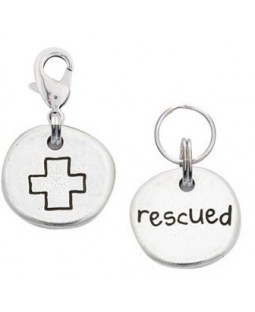 Pewter Plus Sign Rescued Charm