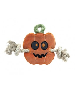 Simply Fido Organic Cotton Halloween Pumpkin Stuffless Rope Toy